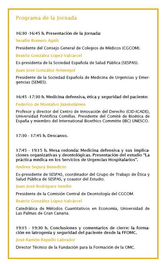 Inauguración I Jornada Iatrogenia en Servicios de Urgencias