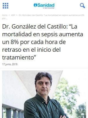 """Dr. González del Castillo: """"La mortalidad en sepsis aumenta un 8% por cada hora de retraso en el inicio del tratamiento"""" - iSanidad"""