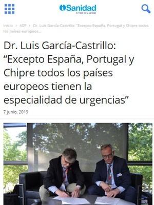 """Dr. Luis García-Castrillo: """"Excepto España, Portugal y Chipre todos los países europeos tienen la especialidad de urgencias"""" - iSanidad"""