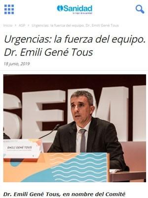 Urgencias: la fuerza del equipo. Dr. Emili Gené Tous - iSanidad