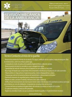REVISIÓN MECÁNICA DE LA AMBULANCIA.
