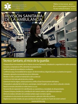 REVISIÓN SANITARIA DE LA AMBULANCIA.