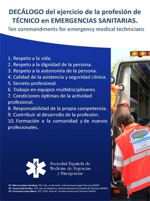 DECÁLOGO DEL EJERCICIO DE LA PROFESIÓN DE TÉCNICO EN EMERGENCIAS SANITARIAS
