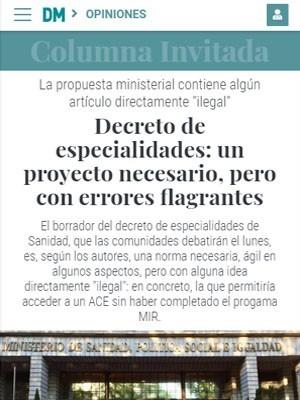 Decreto de especialidades: un proyecto necesario, pero con errores flagrantes - Diario Médico