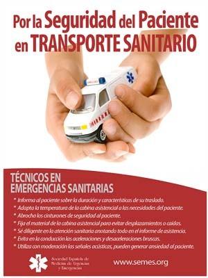 SEGURIDAD DEL PACIENTE EN TRANSPORTE SANITARIO. CONSEJOS PARA TÉCNICOS.