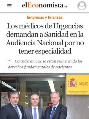 Los médicos de Urgencias demandan a Sanidad en la Audiencia Nacional por no tener especialidad