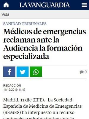 Médicos de emergencias reclaman ante la Audiencia la formación especializada