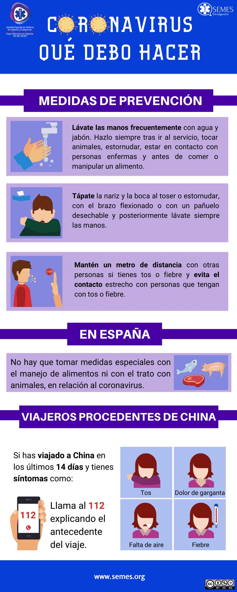 Medidas de prevención ante la neumonía por coronavirus