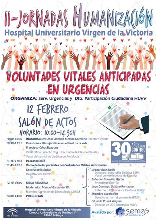 II Jornadas Humanización - Voluntades Vitales anticipadas en Urgencias