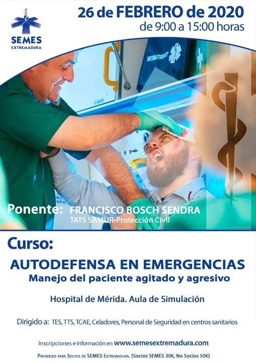 Curso: Autodefensa en Emergencias - Manejo del paciente agitado y agresivo