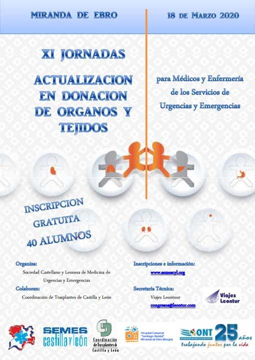 XI Jorandas - Actualización en Donación de Órganos y Tejidos