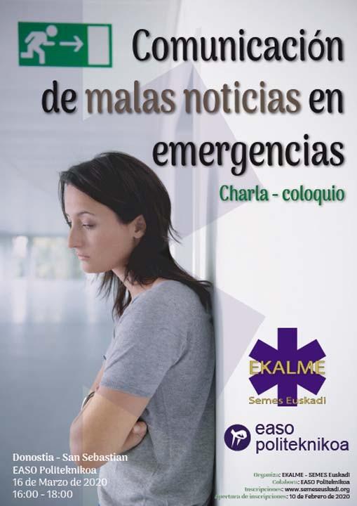 Charla - Coloquio: Comunicación de malas noticias en emergencias