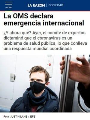 La OMS declara emergencia internacional