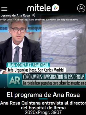 El Programa de Ana Rosa con Juan Jorge Gonzalez Armengol