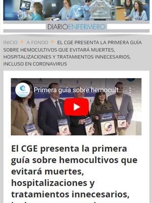 El CGE presenta la primera guía sobre hemocultivos que evitará muertes, hospitalizaciones y tratamientos innecesarios, incluso en coronavirus