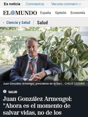 """Juan González Armengol: """"Ahora es el momento de salvar vidas, no de los reproches"""""""