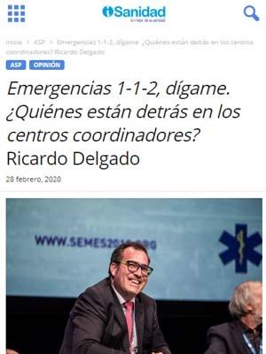 Emergencias 1-1-2, dígame. ¿Quiénes están detrás en los centros coordinadores? Ricardo Delgado