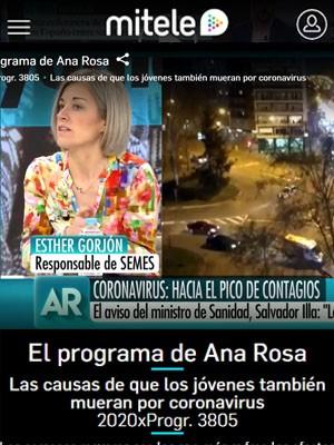Esther Gorjón en el programa de Ana Rosa