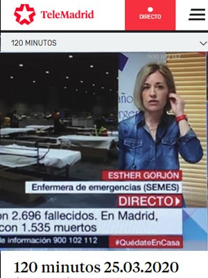Esther Gorjón en 120 Minutos ( Min 30)