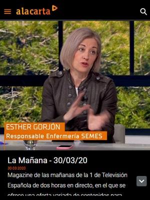 """Esther Gorjón en """"La Mañana"""" de TVE"""