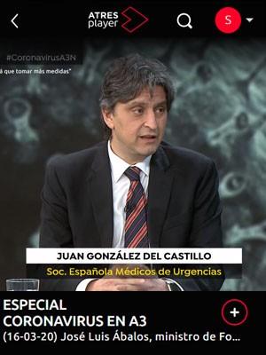 ESPECIAL CORONAVIRUS EN A3 - Juan González del Castillo