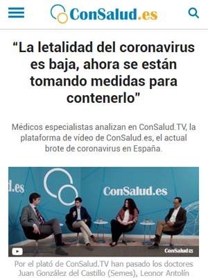 """""""La letalidad del coronavirus es baja, ahora se están tomando medidas para contenerlo"""""""