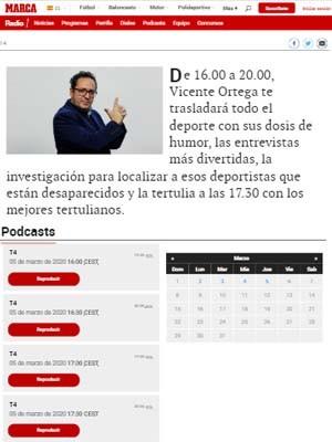 De 16.00 a 20.00, Vicente Ortega