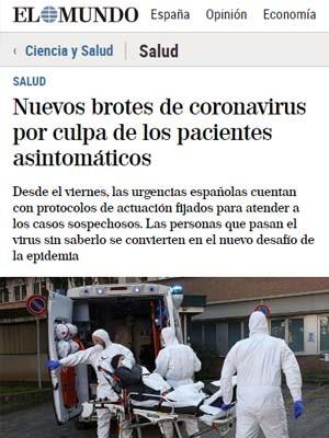 Nuevos brotes de coronavirus por culpa de los pacientes asintomáticos