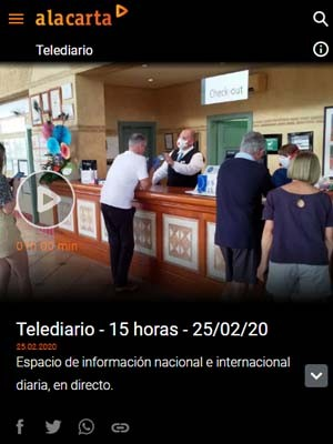 RTVE Telediario - Minuto 9 - Protocolo atención a pacientes con sospecha de coronavirus