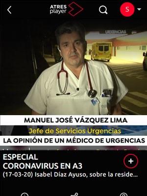 Tato Vázquez Lima - Especial Coronavirus Antena 3
