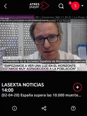 Juan Jorge Gonzalez Armengol en La Sexta Noticias 14:00