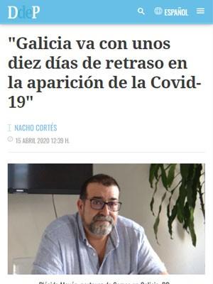 Galicia va con unos diez días de retraso en la aparición de la Covid-19