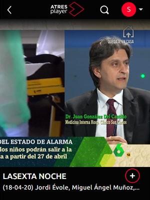 Juan González del Castillo en la Sexta Noche