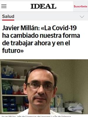 Javier Millán: «La Covid-19 ha cambiado nuestra forma de trabajar ahora y en el futuro»