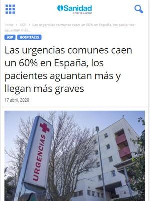 Las urgencias comunes caen un 60% en España, los pacientes aguantan más y llegan más graves