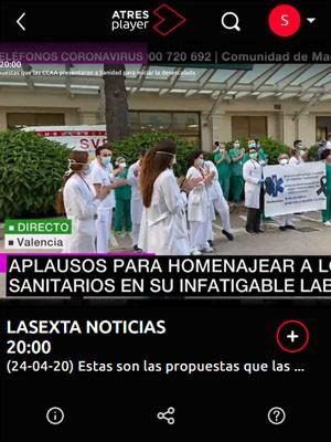 Homenaje en La Sexta Noticias