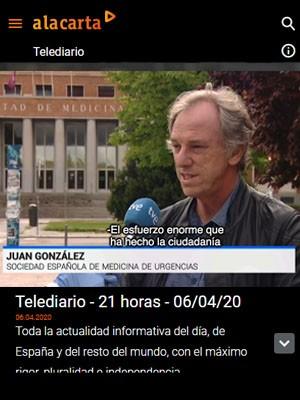 Juan Jorge Gonzalez Armengol en Telediario 21h