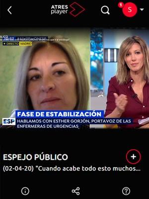 Esther Gorjón en Espejo Público