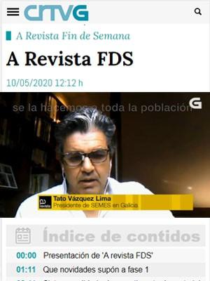 Tato Vázquez Lima en A Revista FDS