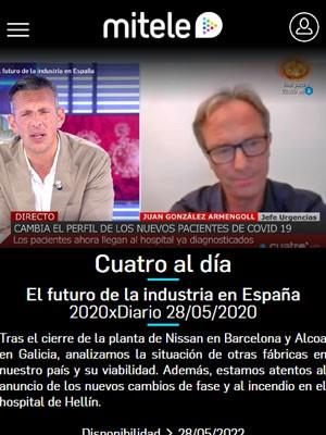 Juan Jorge González Armengol en Cuatro al día