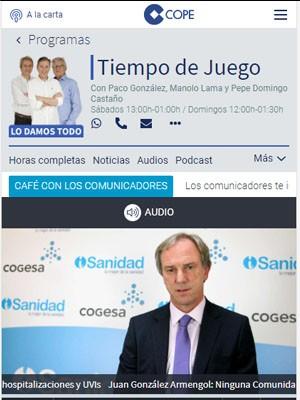 """Juan González Armengol: """"Ninguna Comunidad cumple con el criterio de hospitalizaciones y UVIs"""""""