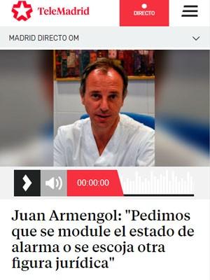"""Juan Armengol: """"Pedimos que se module el estado de alarma o se escoja otra figura jurídica"""""""