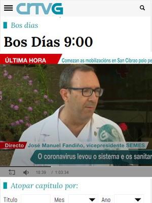 Jose Manuel Fandiño en Bos Días de TVG.