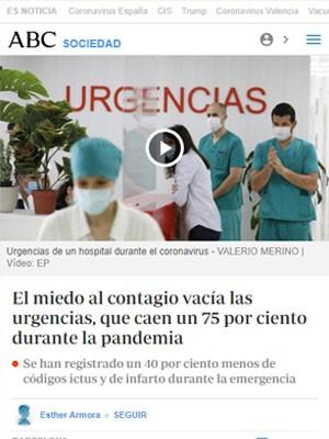 El miedo al contagio vacía las urgencias, que caen un 75 por ciento durante la pandemia