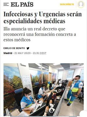 Infecciosas y Urgencias serán especialidades médicas