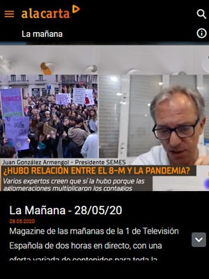 Juan Jorge González Armengol en La Mañana de TVE