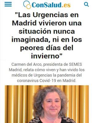 Las Urgencias en Madrid vivieron una situación nunca imaginada, ni en los peores días del invierno
