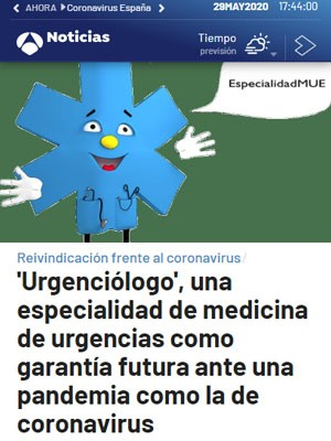 'Urgenciólogo', una especialidad de medicina de urgencias como garantía futura ante una pandemia como la de coronavirus