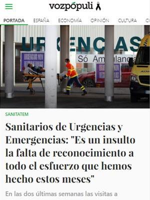 """Sanitarios de Urgencias y Emergencias: """"Es un insulto la falta de reconocimiento a todo el esfuerzo que hemos hecho estos meses"""""""