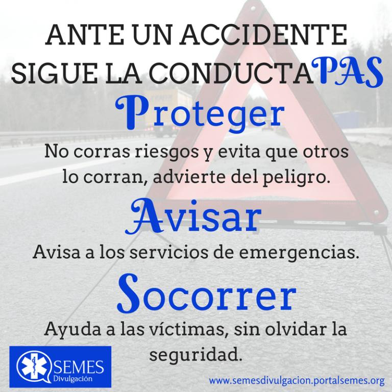 Ante un accidente… Conducta PAS